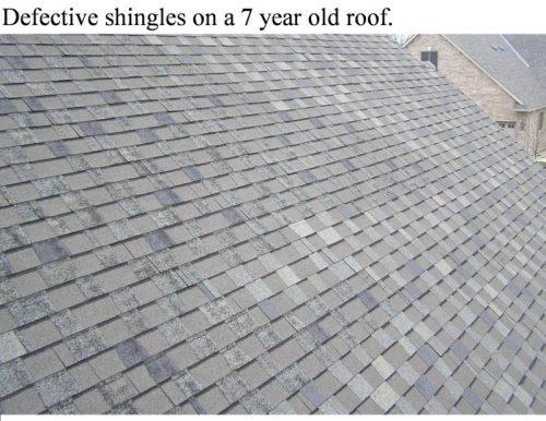 defective shingles