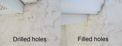 Holes from stucco testing