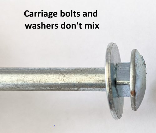 Carriage Bolt with washer