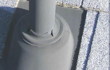Split boot at plumbing vent