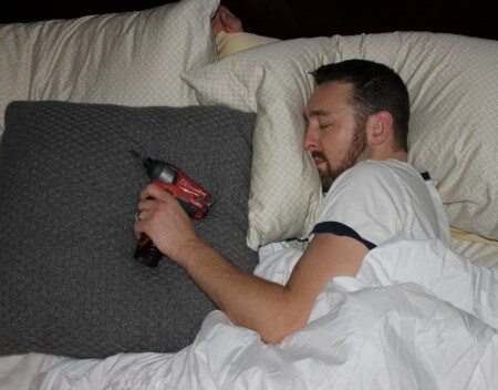 Impact driver in bed