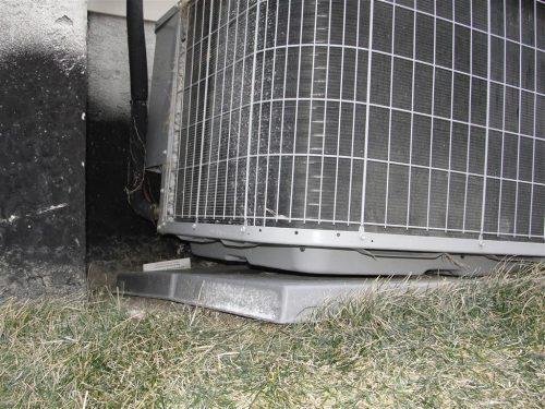 HVAC - settled grade at AC