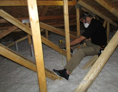 Attic inspection with Bill