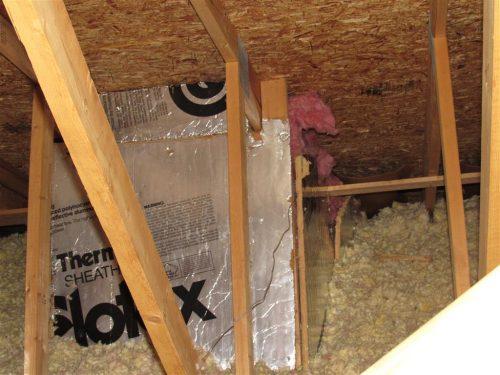 rigid foam around skylight shaft