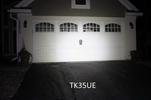 TK35UE against garage
