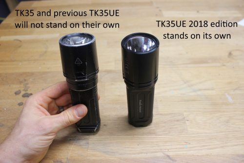 TK35UE stands on end