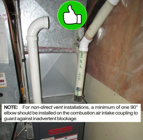 furnace with one pipe properly installed