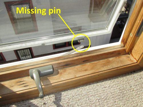 missing hardware at crank