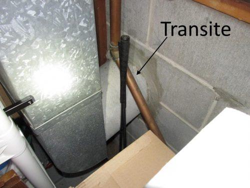 transite heat duct exterior
