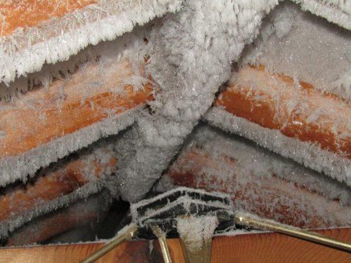 Frosty attic