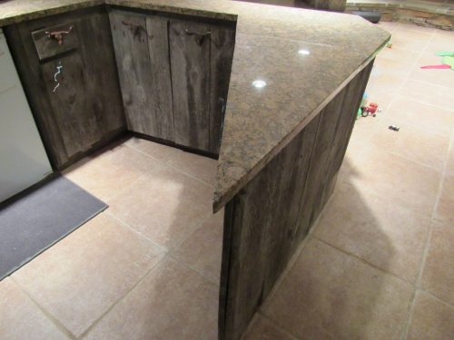 Pointed countertop