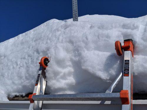 Roof snow depth