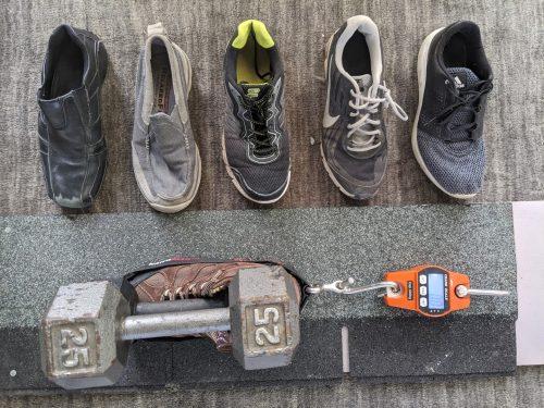 Shoe grip test