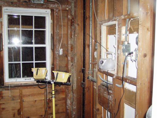 Reuben's bathroom gutted 2