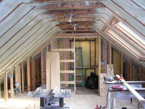 Reuben's attic in progress