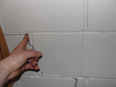 Finger in crack