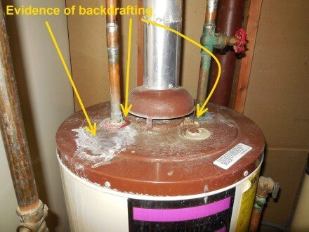 Corrosion at top of water heater tank