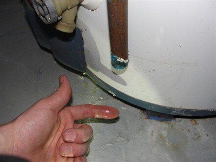 Leaking T&P relief valve