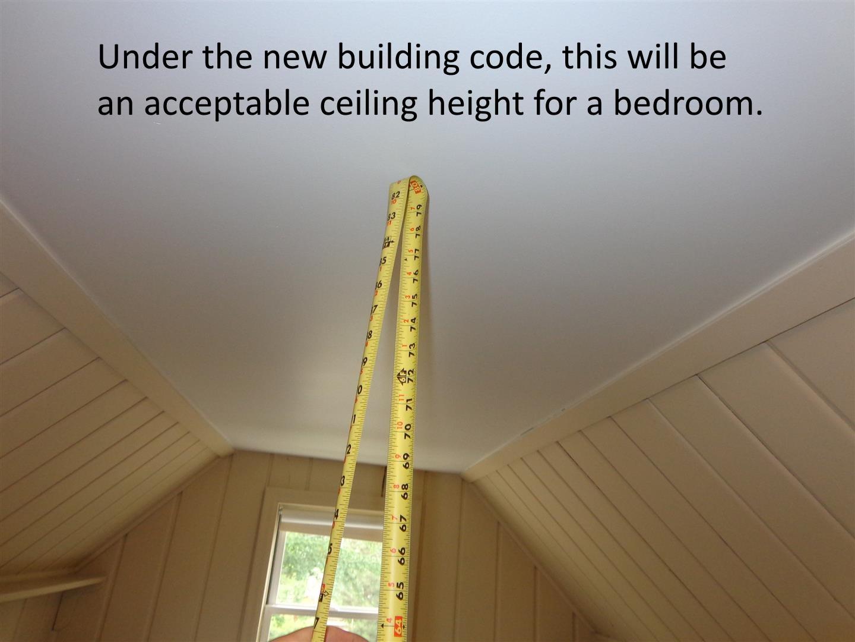 Bedroom ceiling height