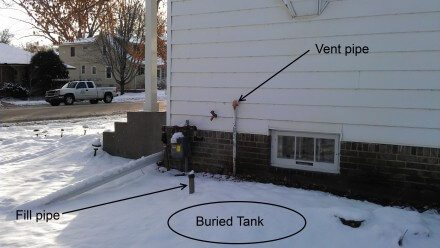 Buried Oil Tank