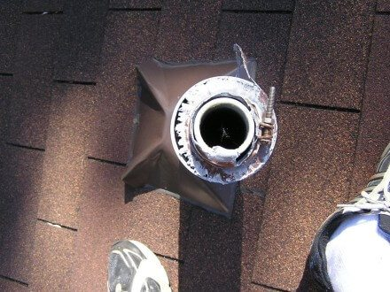 Damaged plumbing vent cap 4