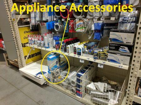 DryerFlex hidden in the appliance accessories area