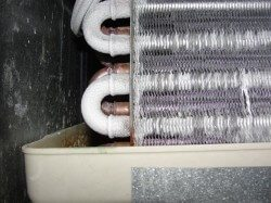 Evaporator coil beginning to frost over