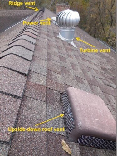 Four roof vents
