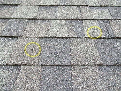 Hail Damage at roof marked up.JPG