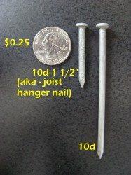 Joist Hanger Nail Comparison
