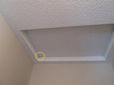 Leak at attic access panel