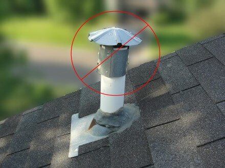 Plumbing vent doesn't need a cap
