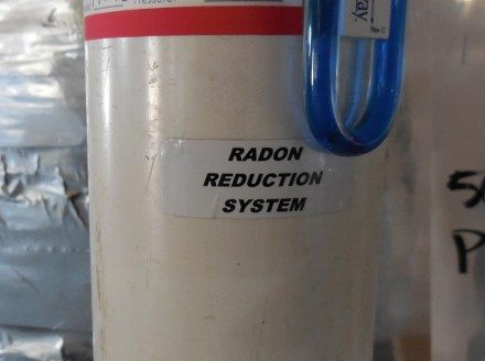 Radon Reduction System label