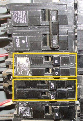 Tandem circuit breakers