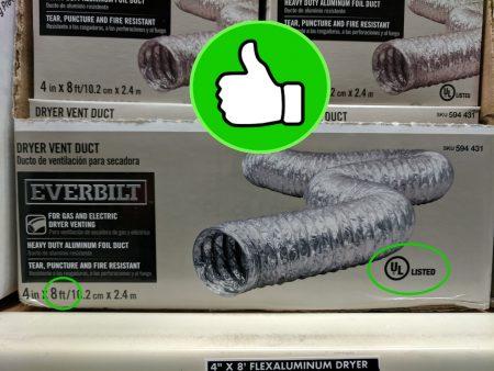 UL Listed aluminum foil duct