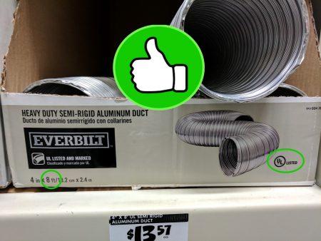 UL Listed semi-rigid duct