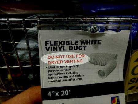 White plastic duct