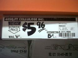 Price Tag at Home Depot