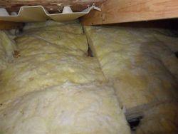 Poorly installed fiberglass batts