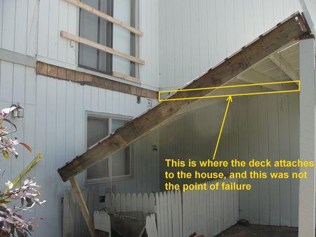Coon Rapids Deck Collapse Ledgerboard