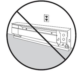 No Outlets Above Electric Baseboard Heaters