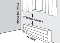 Cadet Baseboard Heater Clearances