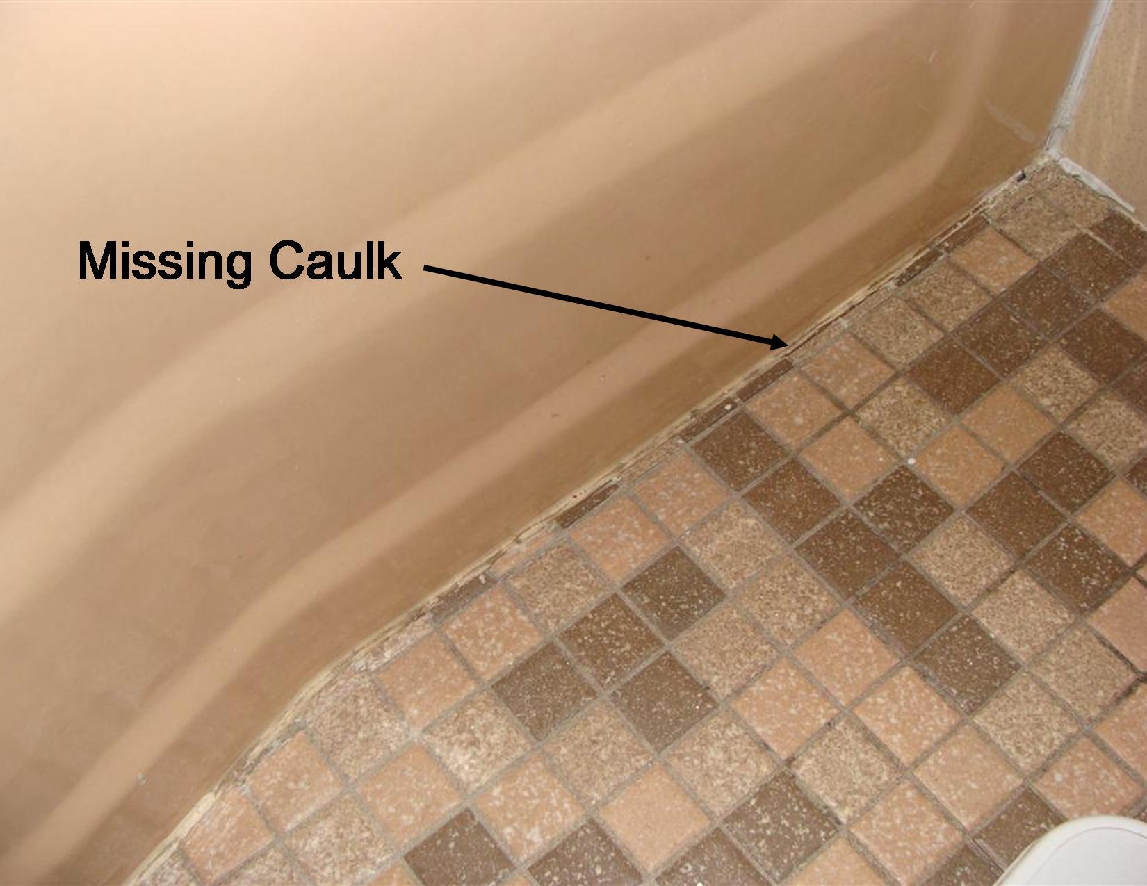 Gap at tub and floor