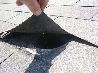 Missing damper on Burnsville townhouse roof