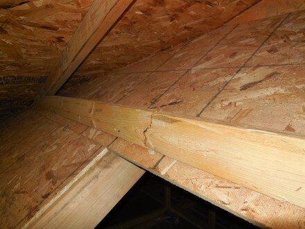 Attic - damaged truss 2