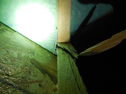 Attic - damaged truss 3