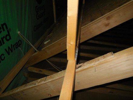 Attic - damaged truss