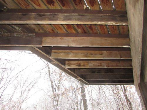 Deck joists spliced