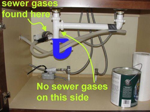 Dishwasher Drain Marked Up