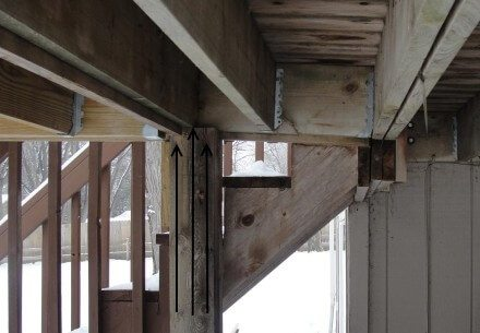 Frost heave at deck 3